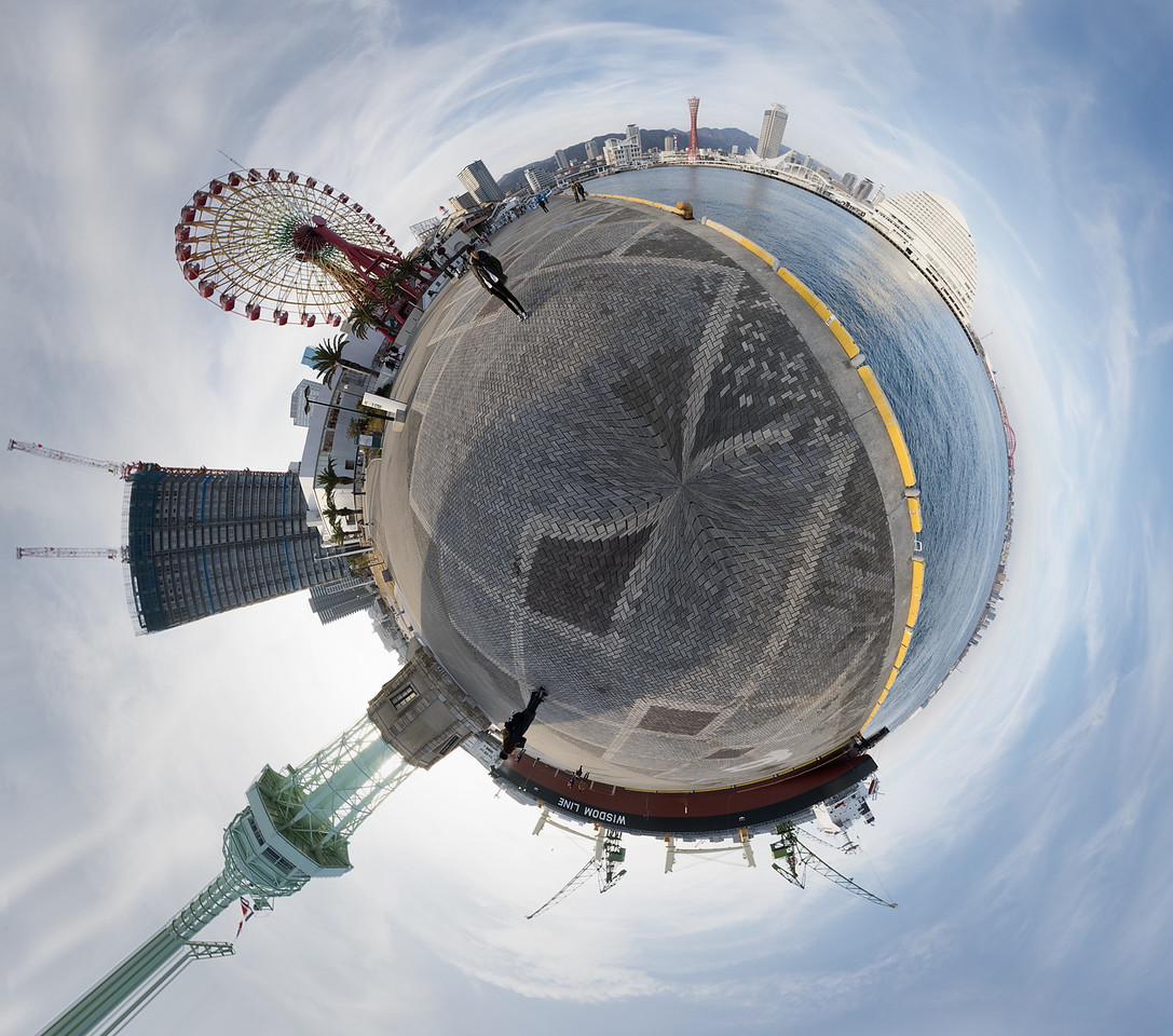 Tiny Planet,Kobe,Japan,Travel,Explore,Landscape